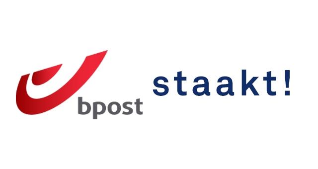 Belgisch Postbedrijf Bpost staakt!