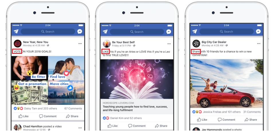Facebook rekent af met engagement bait